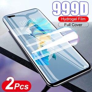 2 шт. гидрогель пленка не стекло для Huawei P30 Lite P40 E Mate 20 Pro 30 плюс 40 RS 5G P10 P20 10 Защитная пленка с полным покрытием экрана Премиум-качества