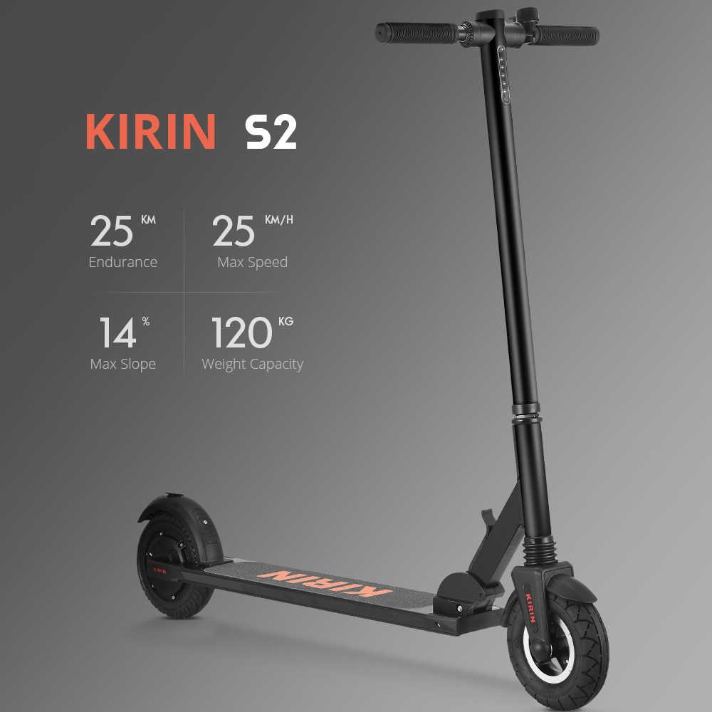 [EU MAGAZZINO] 11KG Luce KUGOO KIRIN S2 Pieghevole Calcio Scooter Elettrico Display LCD Max 25 KM/H e scooter meglio di Megawheels