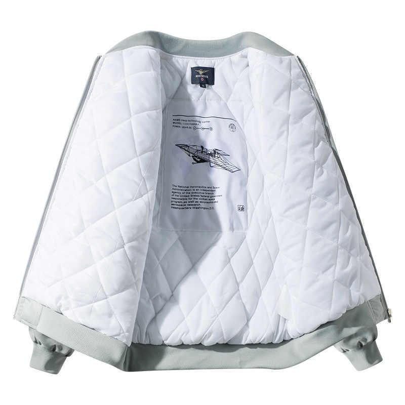 Chaqueta de bombardero para hombre, chaqueta de bombardero con diseño de letras Hip Hop, chaqueta de bombardero para piloto, chaqueta de invierno para hombre, ropa de calle