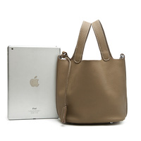 New Ladies Handbag Leather Bag Large Ladies Bag Togo Lichee Tote Bag Simple Fashion Casual Bag