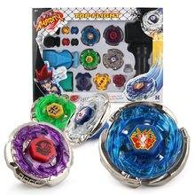 Beyblades Metal Fusion oyuncaklar satılık Beyblades iplik üstleri oyuncak seti Beyblades oyuncak çift rampaları el Spinner Metal üstleri