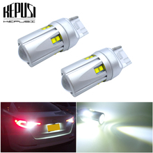 цена на 2x T20 W21W 7440 LED DRL White Led For Front Back-Up Reverse Turn Signal Bulbs Rear Tail Brake Parking Light 12v 24v