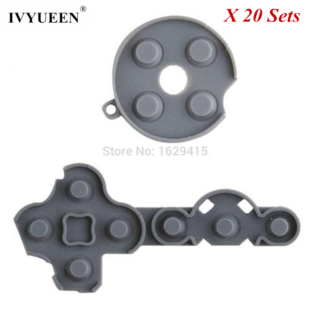 IVYUEEN 20 Sets Conductive Rubber Gray Pads Kit For Microsoft Xbox 360 Controller Buttons Repair Replacement Part