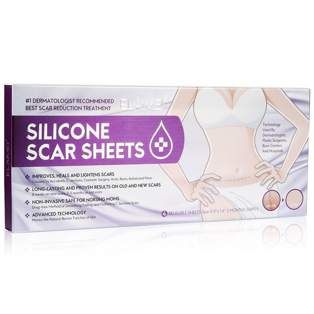 Reusable Silicone Scar Sheets Improves heals and lightens Sheet Remove Repair Long-lasting scars Acne Burn Skin Trauma R9K4