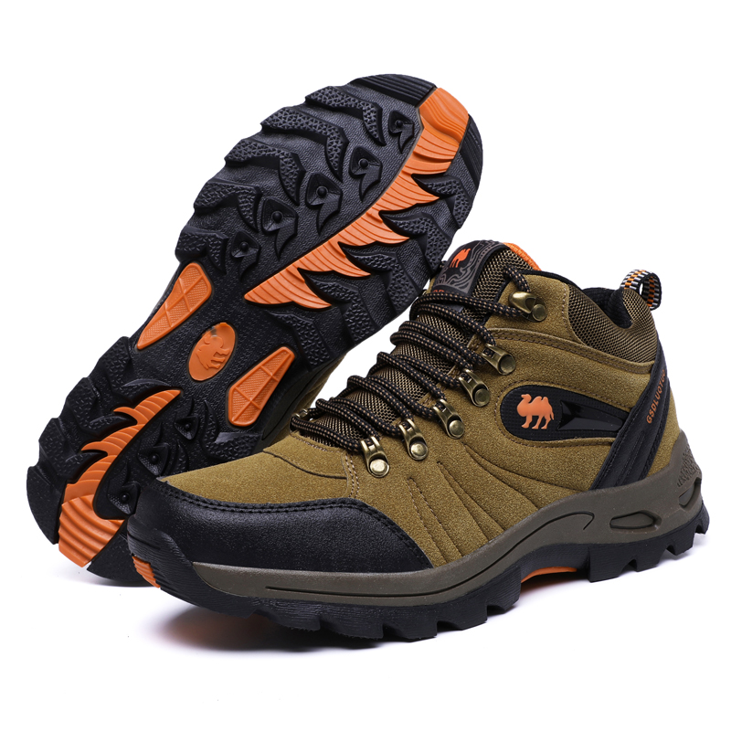 Outdoor High Ankle Boots Men Waterproof Hiking Shoes Women Antiskid Wearable Climbing Sneakers Unisex Sports Mountain Hike Shoes