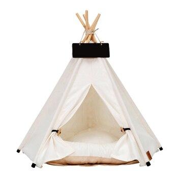 white pet tente