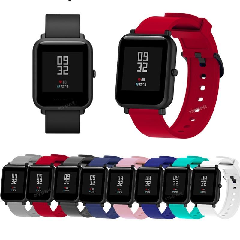 20mm correa de silicona para Xiaomi Huami Amazfit Bip pulsera/Correa inteligente para Amazfit Bip reemplazo de la correa de accesorios