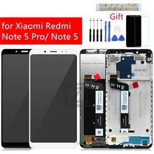 Xiaomi redmi note 5 ディスプレイタッチスクリーンデジタイザのためのフレームと redmi note 5 プロディスプレイ修理スペアパーツ