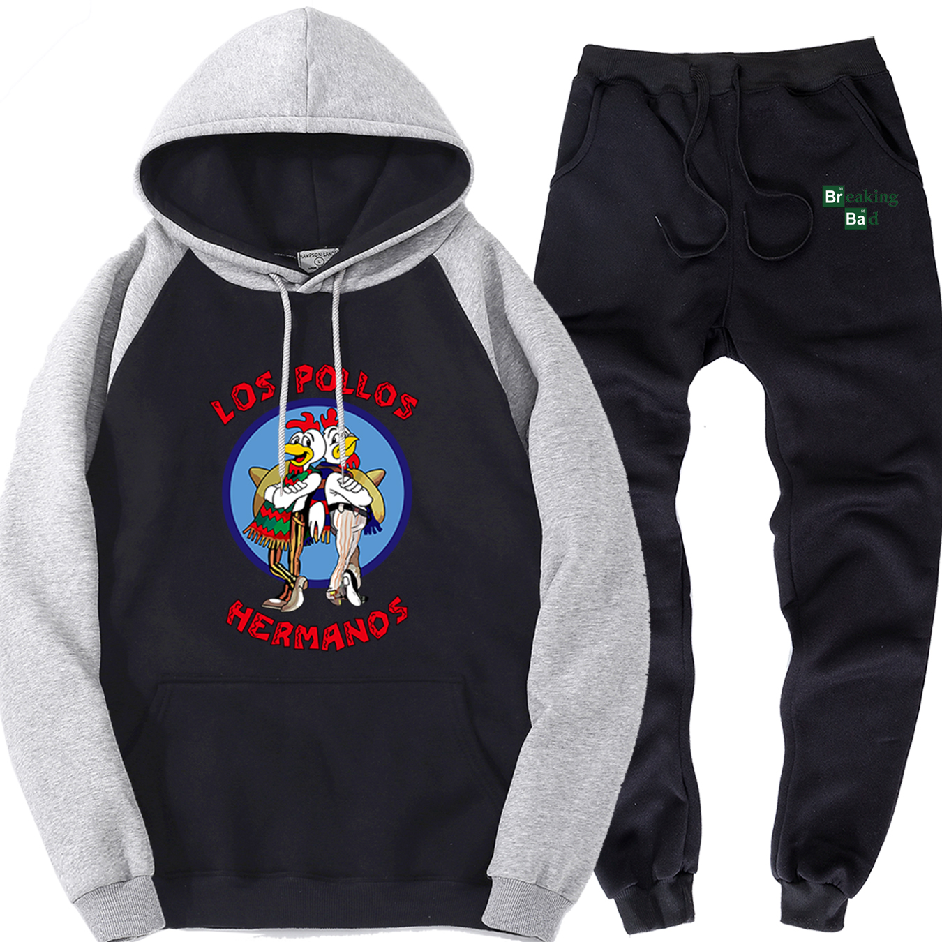 LOS POLLOS Hermanos Sweat Suits Men 2019 New Fashion Male Sports Clothing 2 Piece Sets Streetwear Brand Sweatpants Mens Pullover