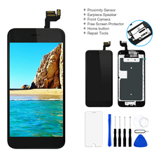 شاشة LCD من الدرجة AA + + لهاتف iPhone 6 6 Plus 6s 6S Plus شاشة رقمية تعمل باللمس مجموعة كاملة لهاتف iPhone 6 مع زر الصفحة الرئيسية + كاميرا