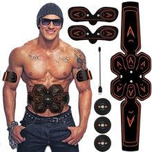 ABS Stimulator Spier Toner Abdominale Toning Belt Home Gym Fitness Trainer USB Opladen Electrostimulator Electro Stimulateur