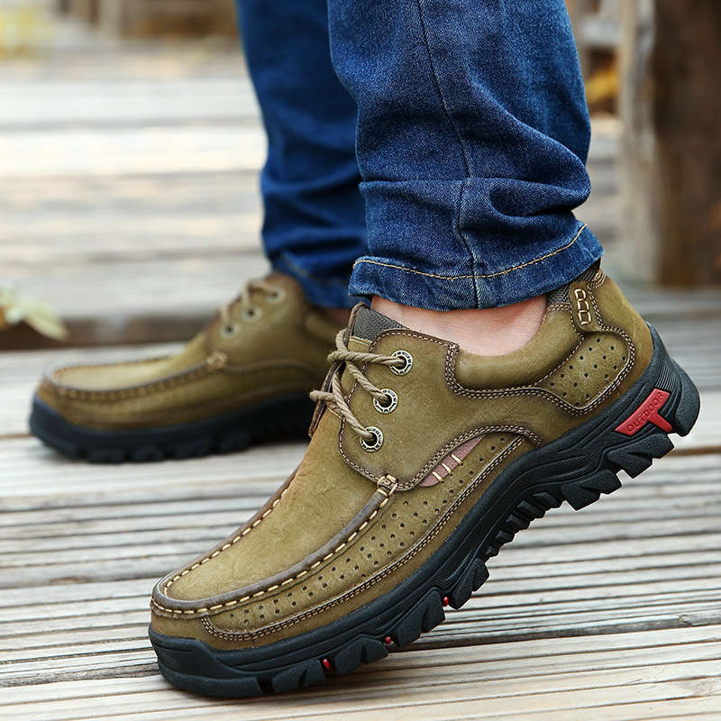 H70ecdc3c38df41f186f178ae8571e2b13 High Quality 2019 New Men Comfortable Sneakers Waterproof Shoes Leather Sneakers Fashion Casual Shoes Male Plus Size 38-48