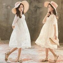 키즈 레이스 드레스 새 아기 소녀 드레스 2020 새로운 어린이 여름 드레스 유아 부품 의류 자수 꽃 아름다운, #5209