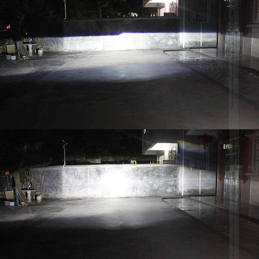 Lentille de projecteur au xénon | Revêtement bleu 2.5 pouces, lentille de projecteur en nid d'abeille Bi DRL Angel Eye Shroud H1 55W AC Kit de Ballast au xénon H4 H7 moto de voiture