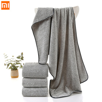 70*140cm Xiaomi Fiber Bath Towel Soft Comfortable Absorbent Couple Bath Towels Home Bathroom Adult Towel Bathroom Supplies