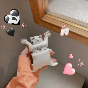 Image 3 - 3D תוספות חתול רך אוזניות מקרה עבור Airpods 3 2 1 פרו אלחוטי טעינה תיק קריקטורה כיף חמוד מגן כיסוי