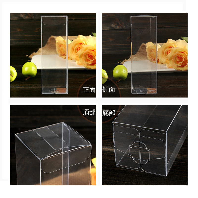 66H cm Transparent Waterproof Clear PVC Display Boxes Gifts Crafts Packing Plastic Box For Flower FoodToysSnackWineFruit Party (2)