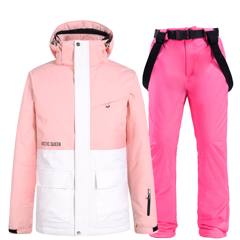 2021 New Winter Women Ski Set Warm Windproof Outdoor Snowboard Jacket Ski Suit Thick Work Clothes Snow Clothes