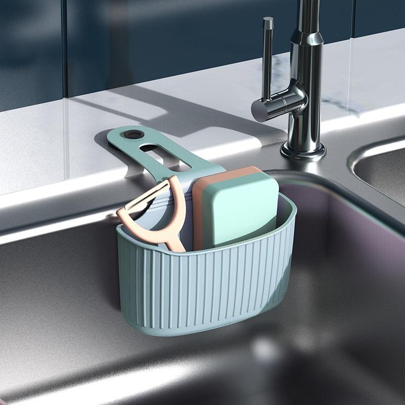Sink Shelf Soap Sponge Drain Rack Bathroom Holder Kitchen Storage Suction Cup Kitchen Sink Organizer For kitchen Accessories