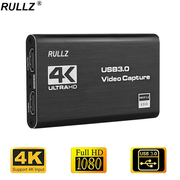4K INPUT Video Capture Card USB 3.0 1080P Game Grabber HDMI-compatible Capture Card for Youtube Live Streaming Plate Broadcast 1
