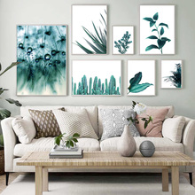 Cactus Dandelion Aloe Palm Leaf Quote Wall Art Canvas Painting Nordic Posters And Prints Plant Pictures For Living Room
