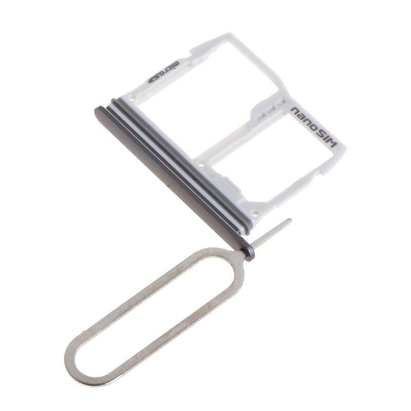 3 Colors Optional Metal SIM Card Tray Slot Holder + Micro SD Memory Sim Holder Adapter For LG G6 US997 VS988