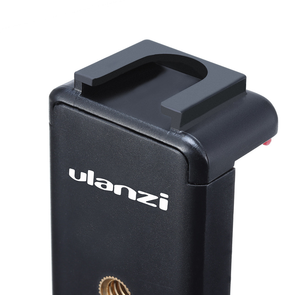 Ulanzi Straight Type Cold Shoe Phone Clip Universal 1/4 Screw For Vlog Microphone LED Light Vlog Tripod Phone Mount