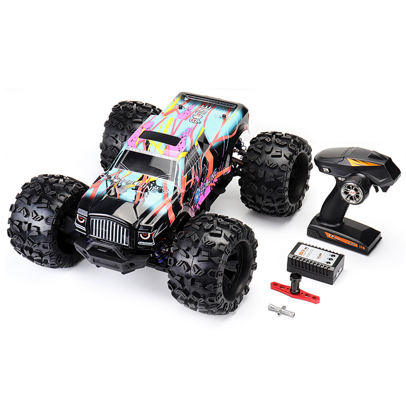 Eachine EAT02 1:8 4WD 2.4G Remote Control RC Car Brushless Big Foot High Speed 90km/h Drift Vehicle Models Truck Metal Chassis