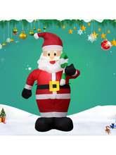 Рождественский Санта с конфетными тросками надувные украшения