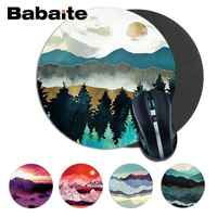 Babaite High Quality Indigo Mountains round Durable Rubber Mouse Mat Pad Size for 220*220*2mm round mousepad Game Mousepad