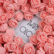 500pcs/Pack PE Foam Artificial Rose Flower Head 18 Different Colors Rose Petals Wedding Room Decoration Party Accessories