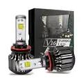 Phare de voiture LED H7 H8 H9 H11 9005 9006 Cris 30w 40W V16 Turbo lampe à LED ampoules 4000LM 3600lm LED tête lumière de travail Automatique de Phare