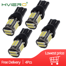 4X 10Led 7020 Auto Car T10 W5W LED 194 168 Wedge Replacement Reverse Instrument Panel Lamp White Blue Bulbs For Clearance Lights w5w 10 led 7020 smd car t10 led 194 168 wedge replacement reverse instrument panel lamp white blue bulbs for clearance lights