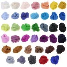 Top de costura de lana Corriedale, fibra de fieltro húmeda giratoria teñida