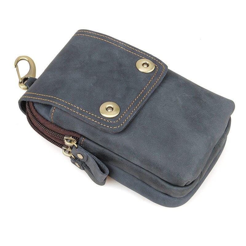 Мужская сумка из натуральной кожи с ремнем для путешествий - 4