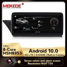 MEKEDE 10.25 Android 10 Sistema di Radio del DVD Dellautomobile Per Audi A4 2009 2016 IPS Dello Schermo Dello Specchio di GPS Navi Carplay WIFI Google Musica BT SWC
