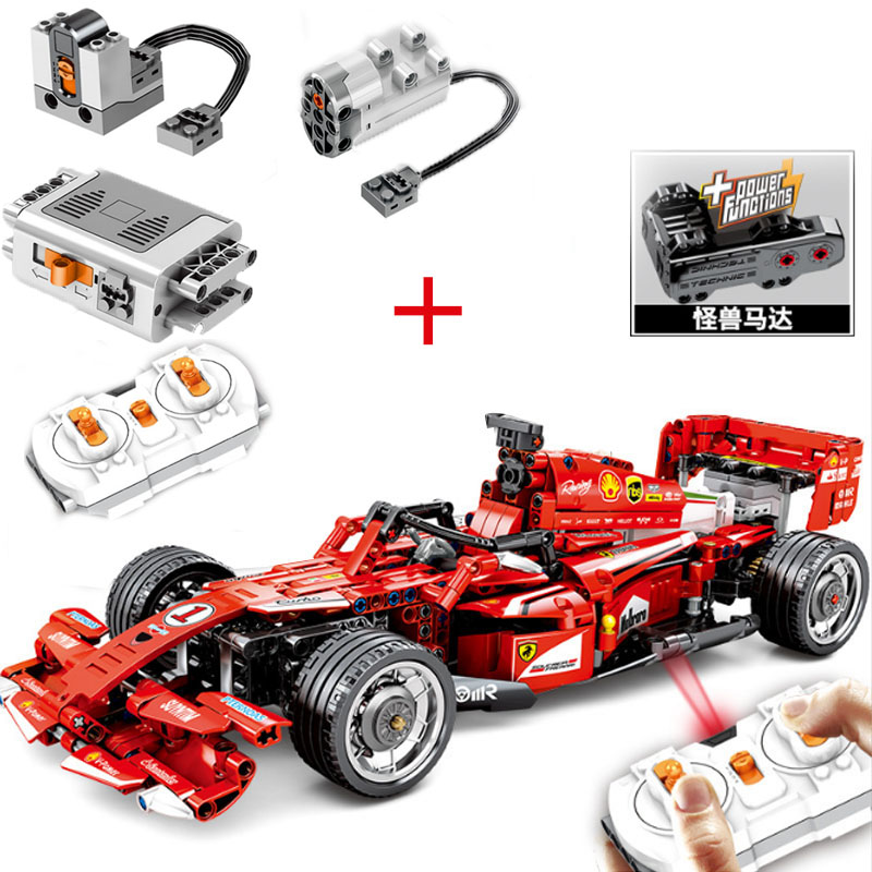 585pcs Suit <font><b>Legoinglys</b></font> 701000 Technic F1 Racing Car Moc Remote Control Rc Electric Speed Model Building Blocks Toys Gifts image