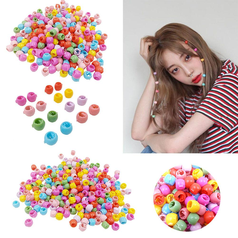 DishyKooker 100pcs/set Lovely Bean Shaped Mixed Color Mini Hair Clip Hairpin Hair Accessories For Adult Children