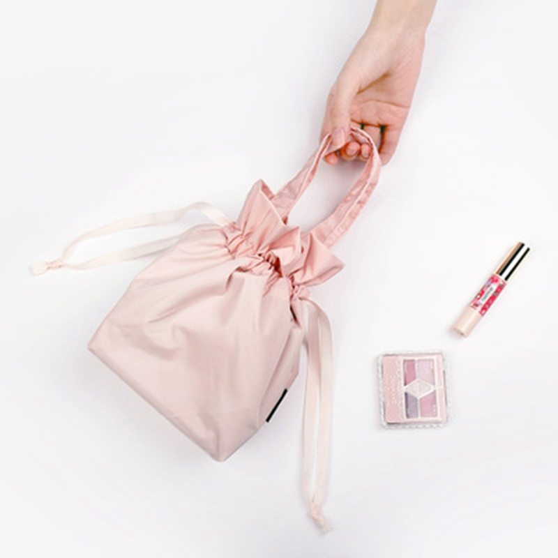 Women Drawstring Travel Cosmetic Bag Makeup Bag Organizer Make Cosmetic Bag Case Storage Pouch Toiletry Beauty Kit Box