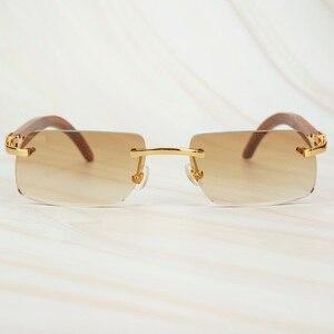 Image 1 - עץ ללא מסגרת רטרו משקפי שמש גברים נשים משקפיים שמש נהיגה דיג יוקרה קרטר משקפיים מסגרת עץ משקפי שמש זכר