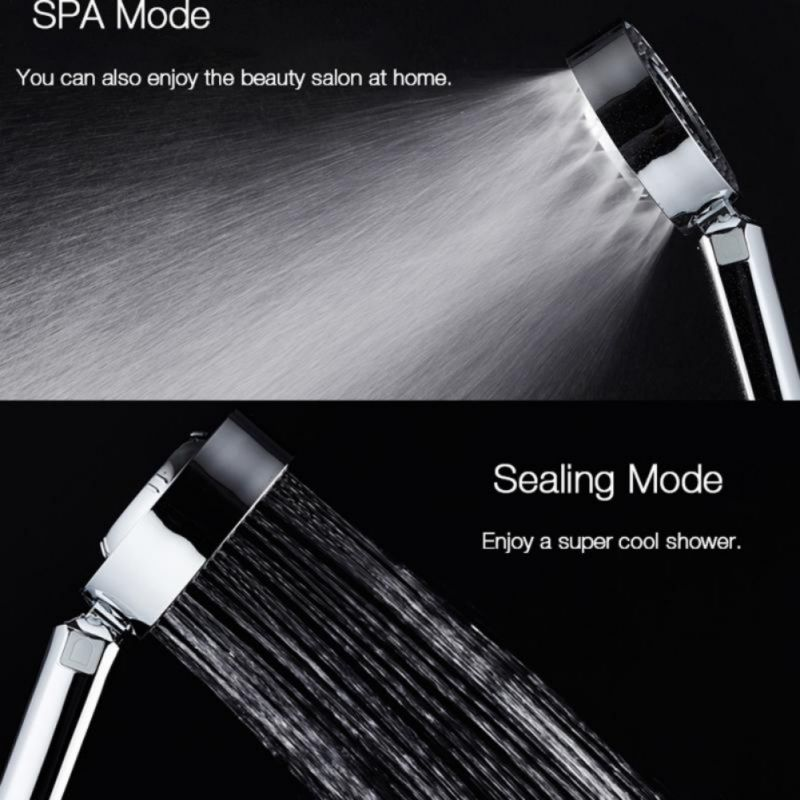 Shower Head Double-Sided Spray Pressurization Washable Shower Hand-Held Shower Head Water Saving Shower Head Bathroom Accessory