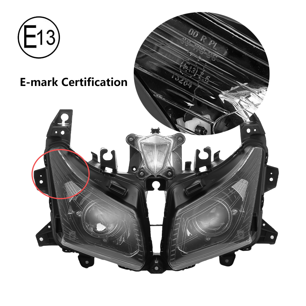 Image 4 - For Tmax530 Motorcycle HeadLight For Yamaha TMAX 530 Front Headlamp For T MAX530 2012 2013 2014 Assembly Lamp Head Light Replace