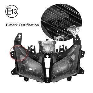 Image 4 - Tmax530 오토바이 헤드 라이트 용 yamaha tmax 530 프론트 헤드 램프 용 T MAX530 2012 2013 2014 어셈블리 램프 헤드 라이트 교체