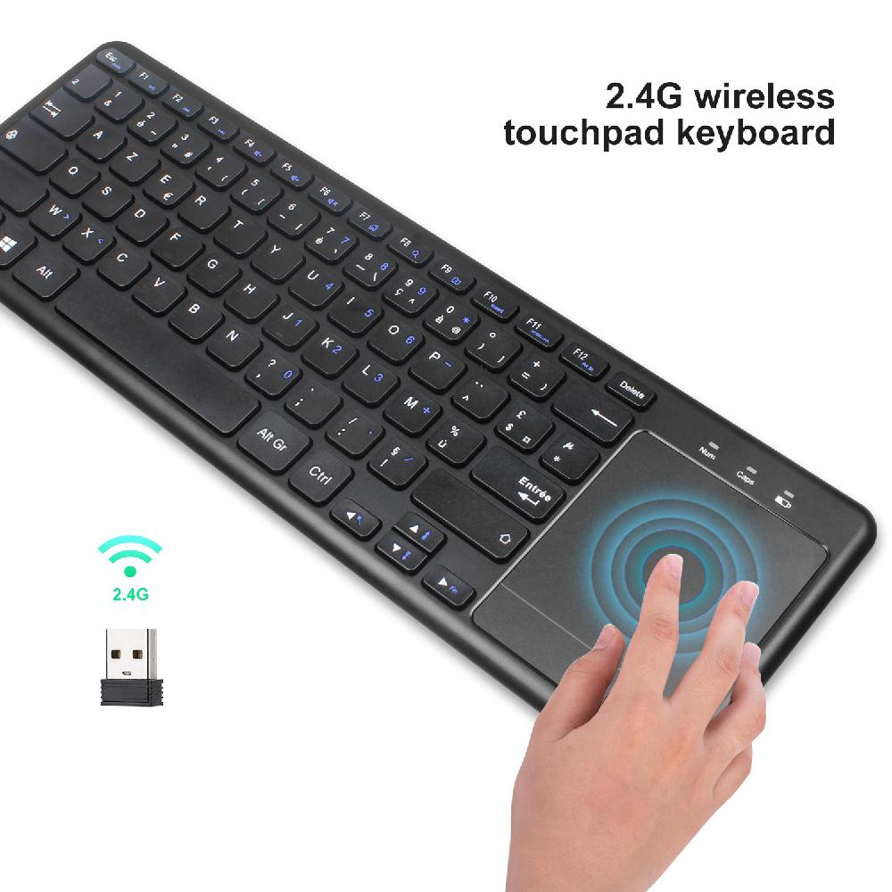 Keyboard In English And French 2.4G Wireless Keyboard For Tablet Desktop With Touch Mouse
