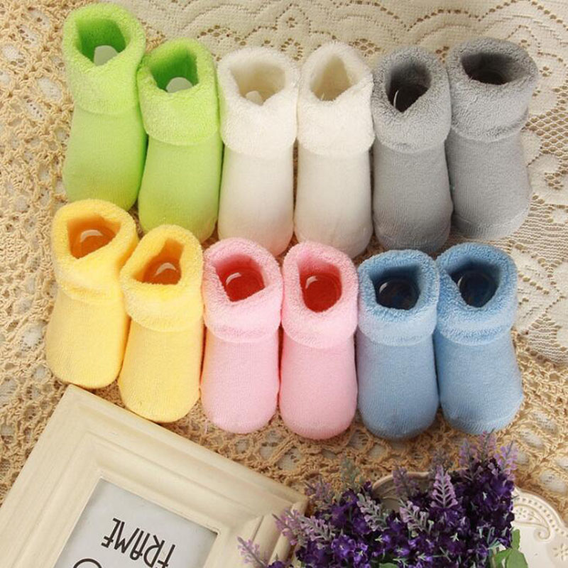 2019 New Autumn And Winter Newborn Baby Socks Cotton Thick Floor Toddler Foot Socks