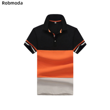 New Solid Color Summer Polo Shirts Men  Brand Polos para hombre  eden park homme Business Casual Stitching stripes high quality