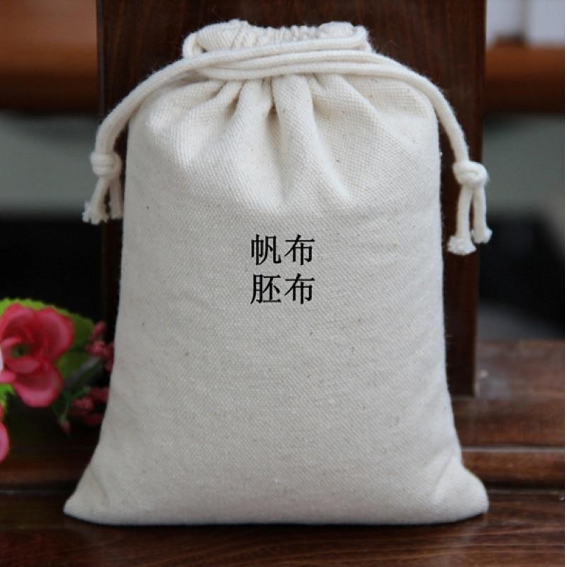 Échantillon de sac de cordon bon marché de petite taille avec 1 logo de couleur dans le matériel microfibre de toile de satin de lin de jute de coton de velours et autre - 6