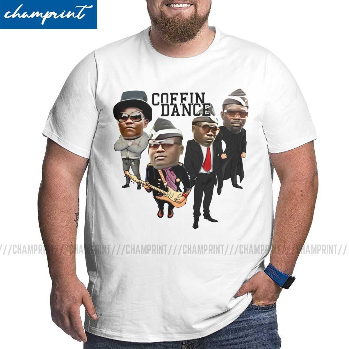 Men S Coffin Dance Caricatur T Shirts 2020 Funny Meme T Shirts Funeral Dance With Casket Pallbearers Tops Vintage Big Tall Tees T Shirts Aliexpress