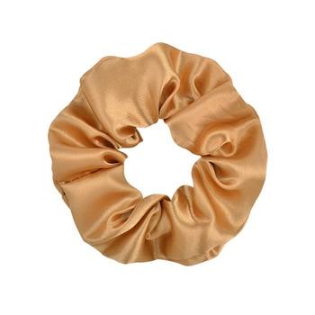 3.9 inch Women Silk Scrunchie Elastic Handmade Multicolor  Hair Band Ponytail Holder Headband Hair Accessories 24