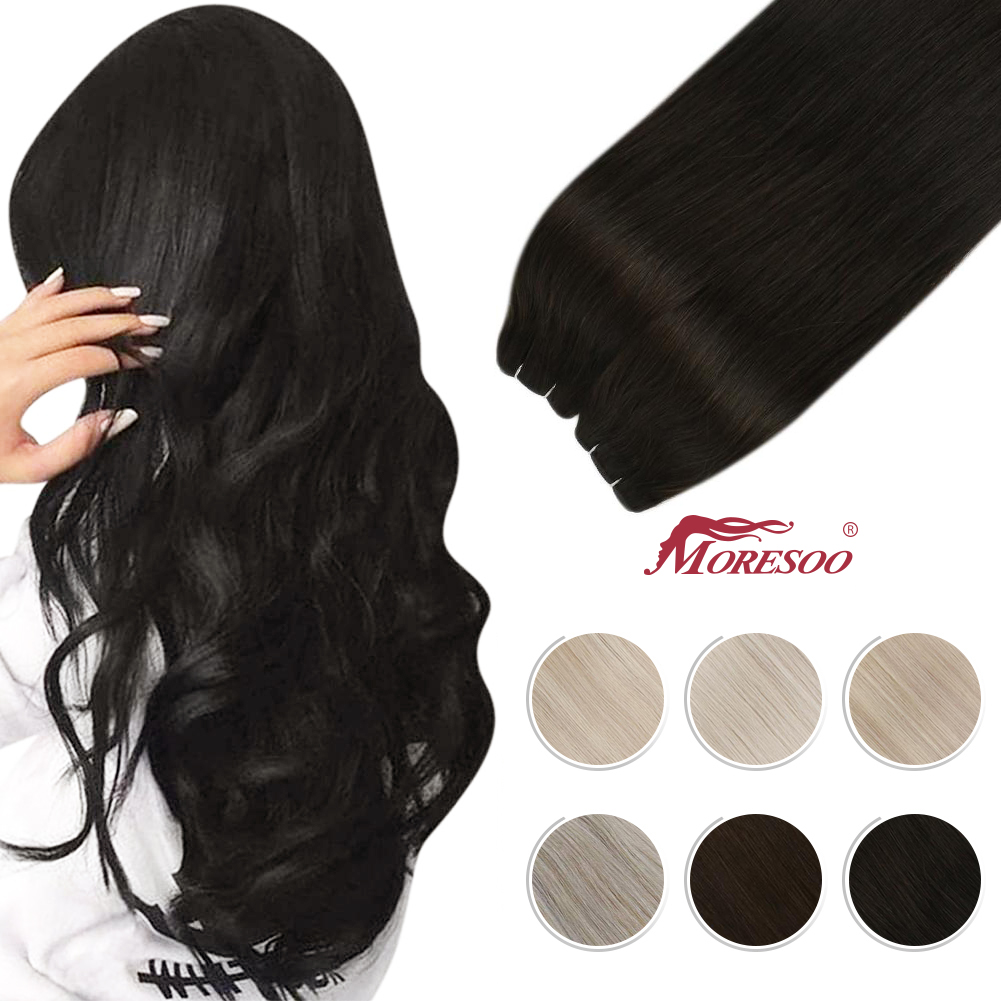 Virgin Hair Weft Sew in Bundles Real Human Hair 50G/100G Natural and Soft Brazilian Hair Human Hair Bundles Hair Piece for Women